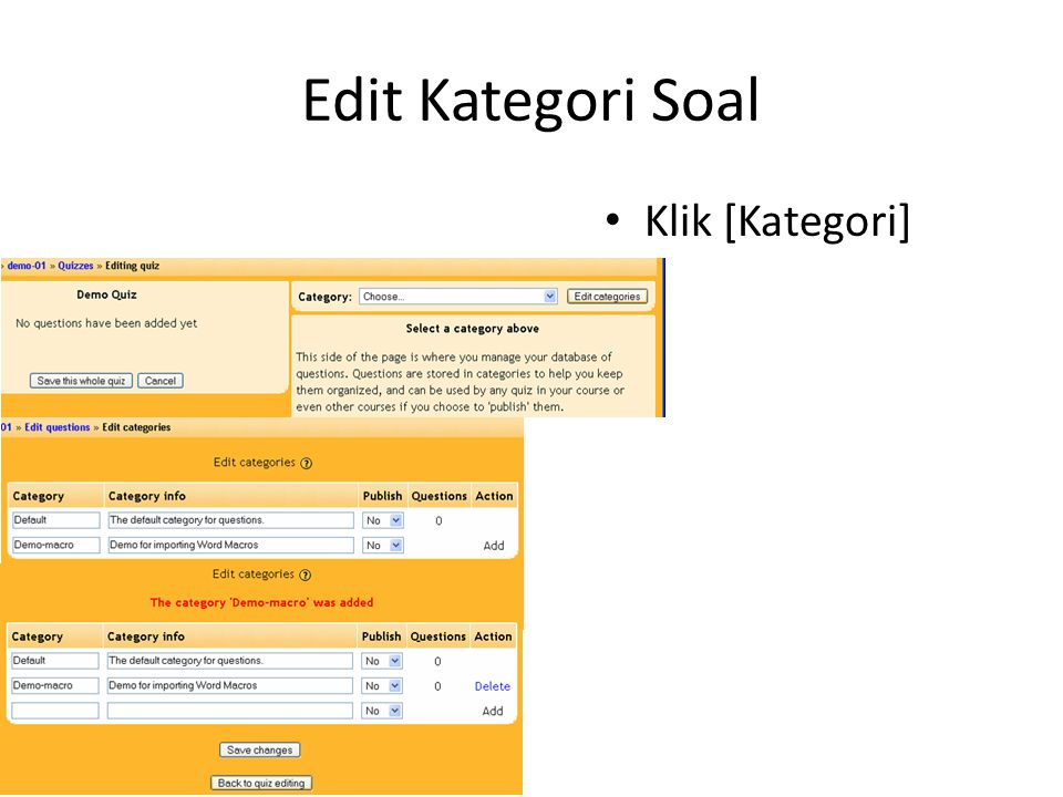 Edit Kategori Soal Klik [Kategori]